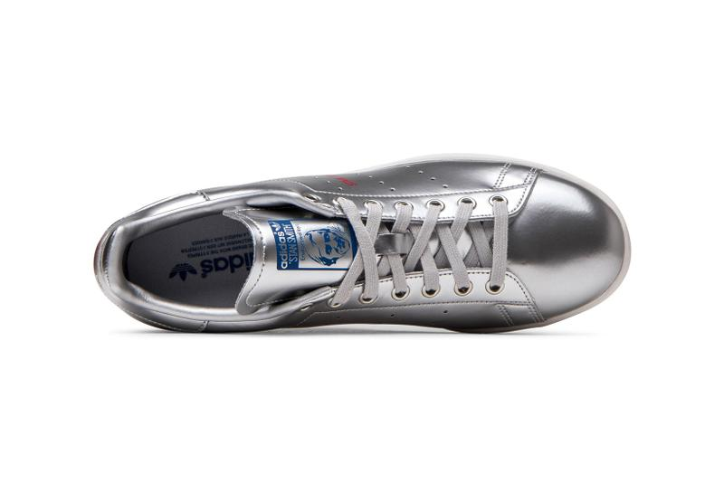 adidas originals stan smith sneakers gold silver metallic shoes footwear sneakerhead