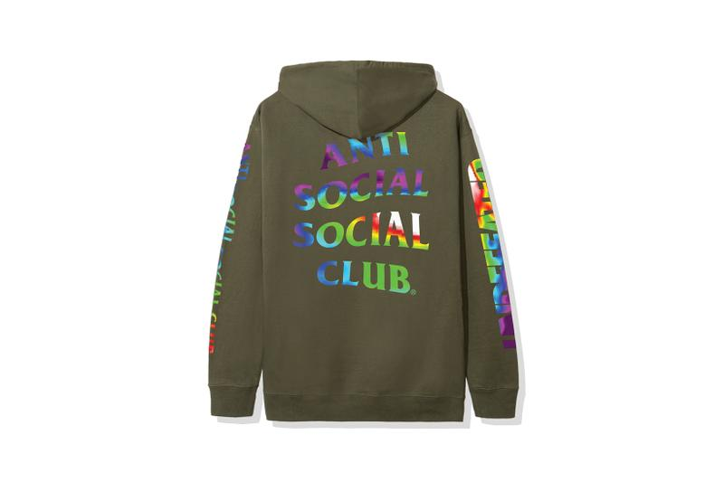 anti social social club undefeated collaboration hoodies t shirts pink black fashion clothes
