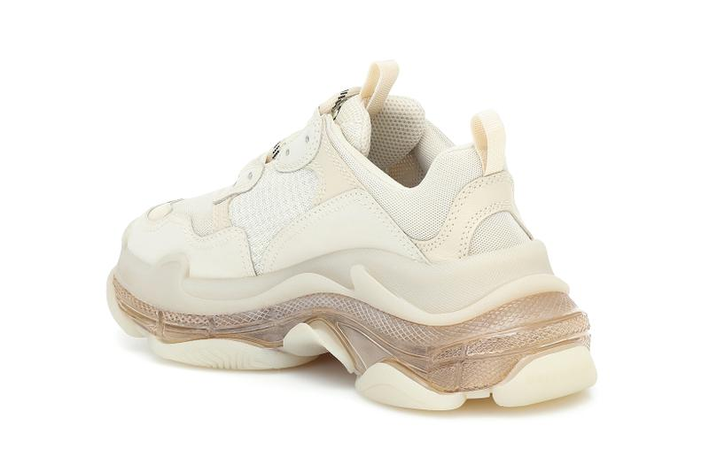 balenciaga triple s chunky sneakers off white nude minimal shoes footwear sneakerhead