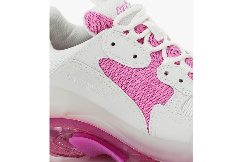 balenciaga triple s chunky sneakers white pink pre spring 2020 shoes footwear sneakerhead