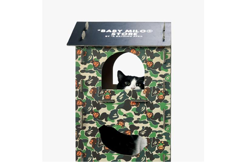 baby milo bape a bathing ape pet cat collection toys wand plush tunnel cardboard castle scratch board