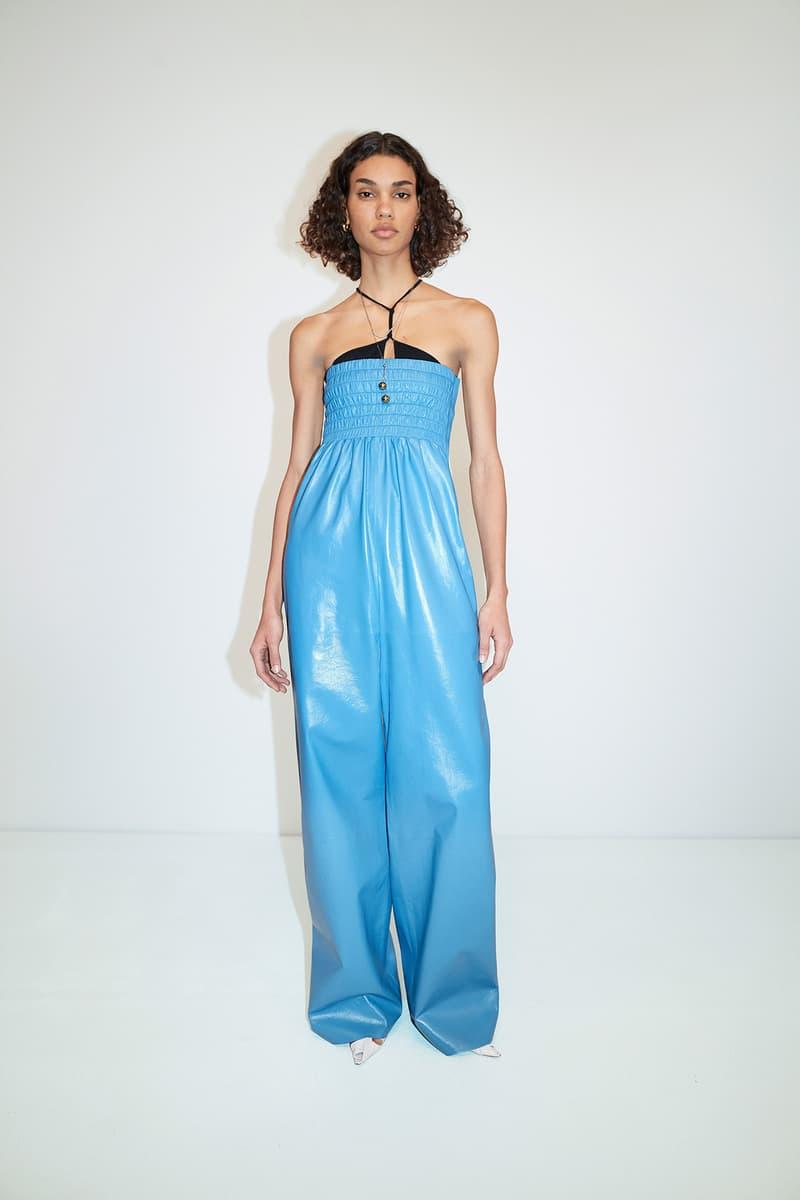 Bottega Veneta Pre-Fall 2020 Collection Lookbook Jumpsuit Blue Leather