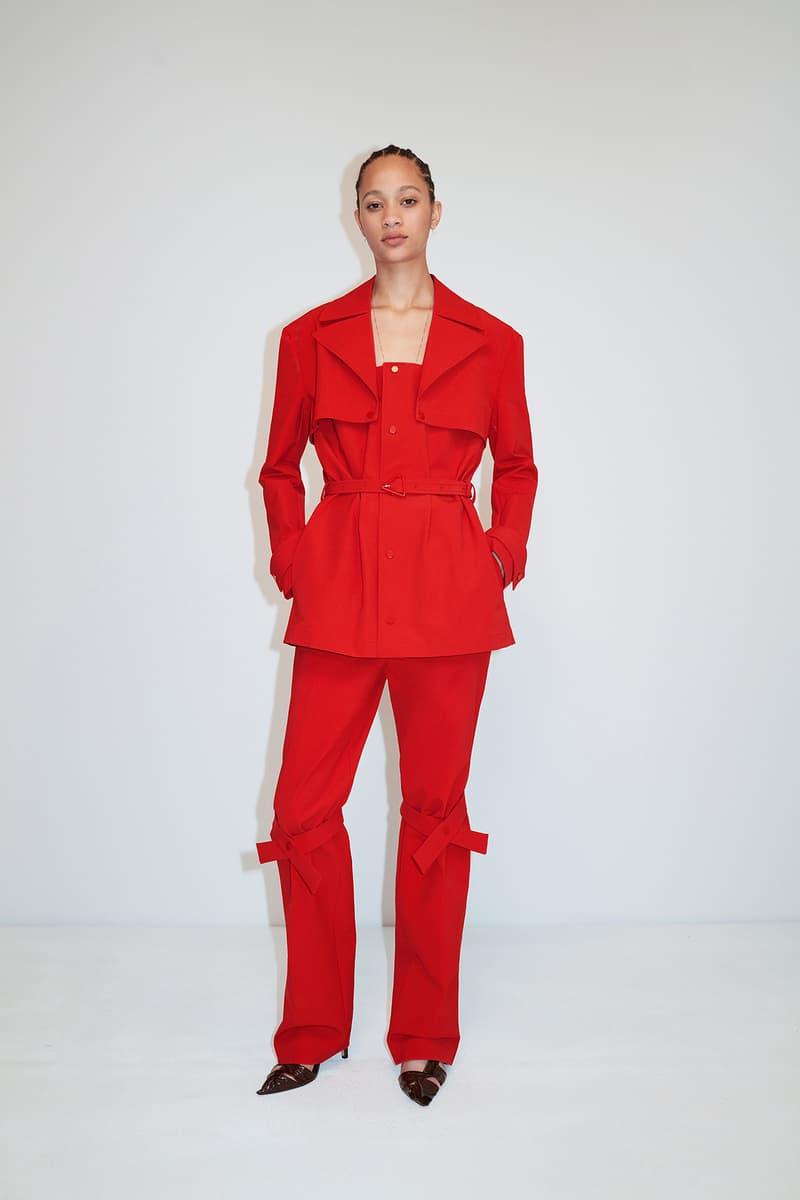 Bottega Veneta Pre-Fall 2020 Collection Lookbook Suit Red