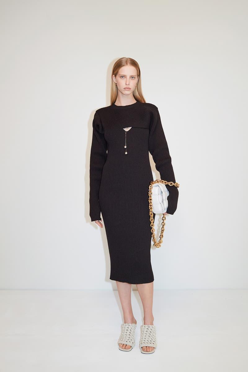 Bottega Veneta Pre-Fall 2020 Collection Lookbook Midi Dress Black