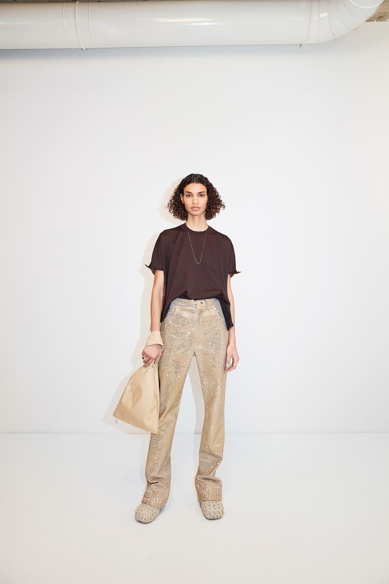 Bottega Veneta Pre-Fall 2020 Collection Lookbook Sequin Pants Beige