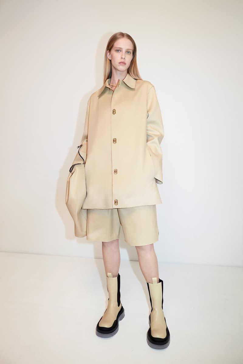 Bottega Veneta Pre-Fall 2020 Collection Lookbook Jacket Shorts Beige