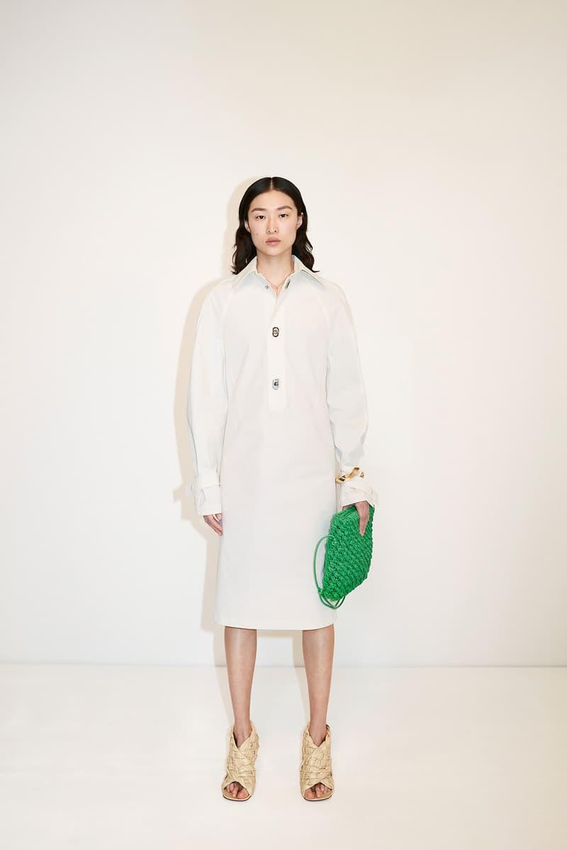 Bottega Veneta Pre-Fall 2020 Collection Lookbook Shirt Dress White