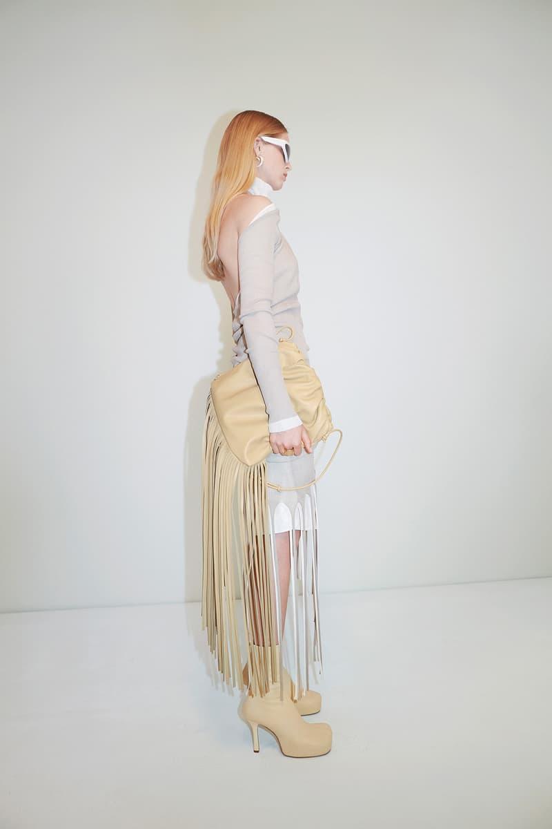 Bottega Veneta Pre-Fall 2020 Collection Lookbook Fringe Bag Beige