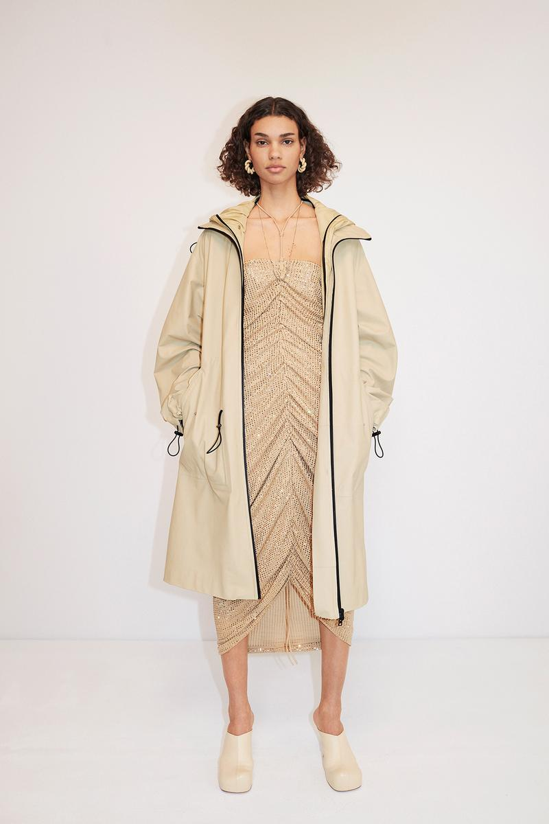 Bottega Veneta Pre-Fall 2020 Collection Lookbook Ruched Dress Beige