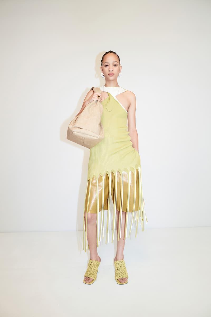 Bottega Veneta Pre-Fall 2020 Collection Lookbook Fringe Top Yellow