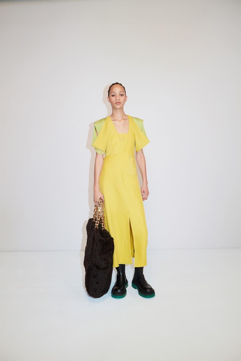 Bottega Veneta Pre-Fall 2020 Collection Lookbook Slit Dress Yellow