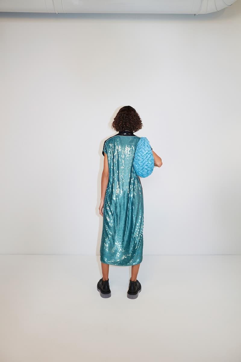 Bottega Veneta Pre-Fall 2020 Collection Lookbook Sequin Dress Blue