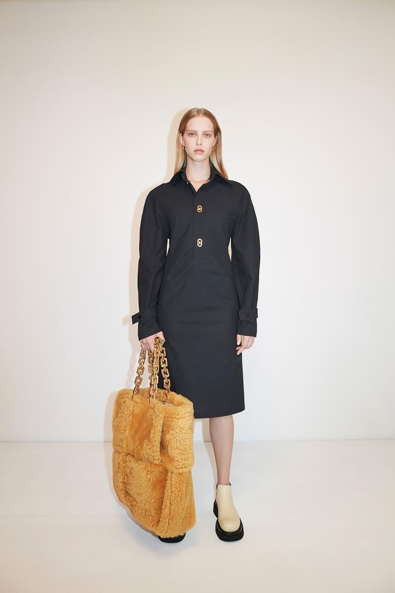 Bottega Veneta Pre-Fall 2020 Collection Lookbook Shirt Dress Black