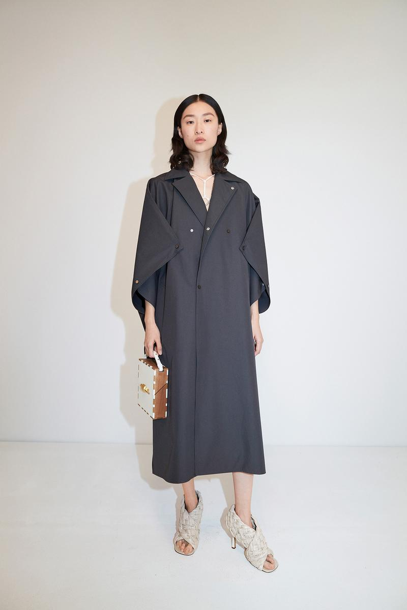 Bottega Veneta Pre-Fall 2020 Collection Lookbook Trench Coat Black