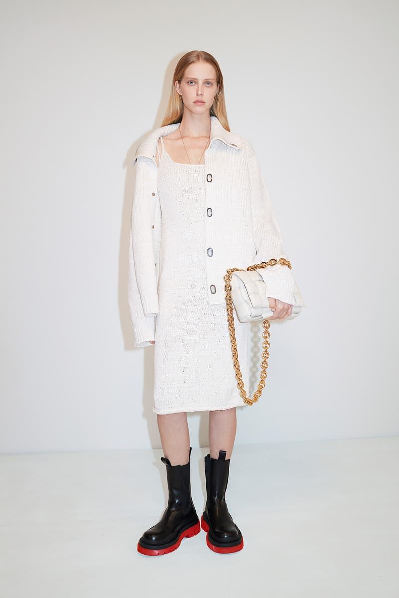 Bottega Veneta Pre-Fall 2020 Collection Lookbook Midi Dress White Shirt