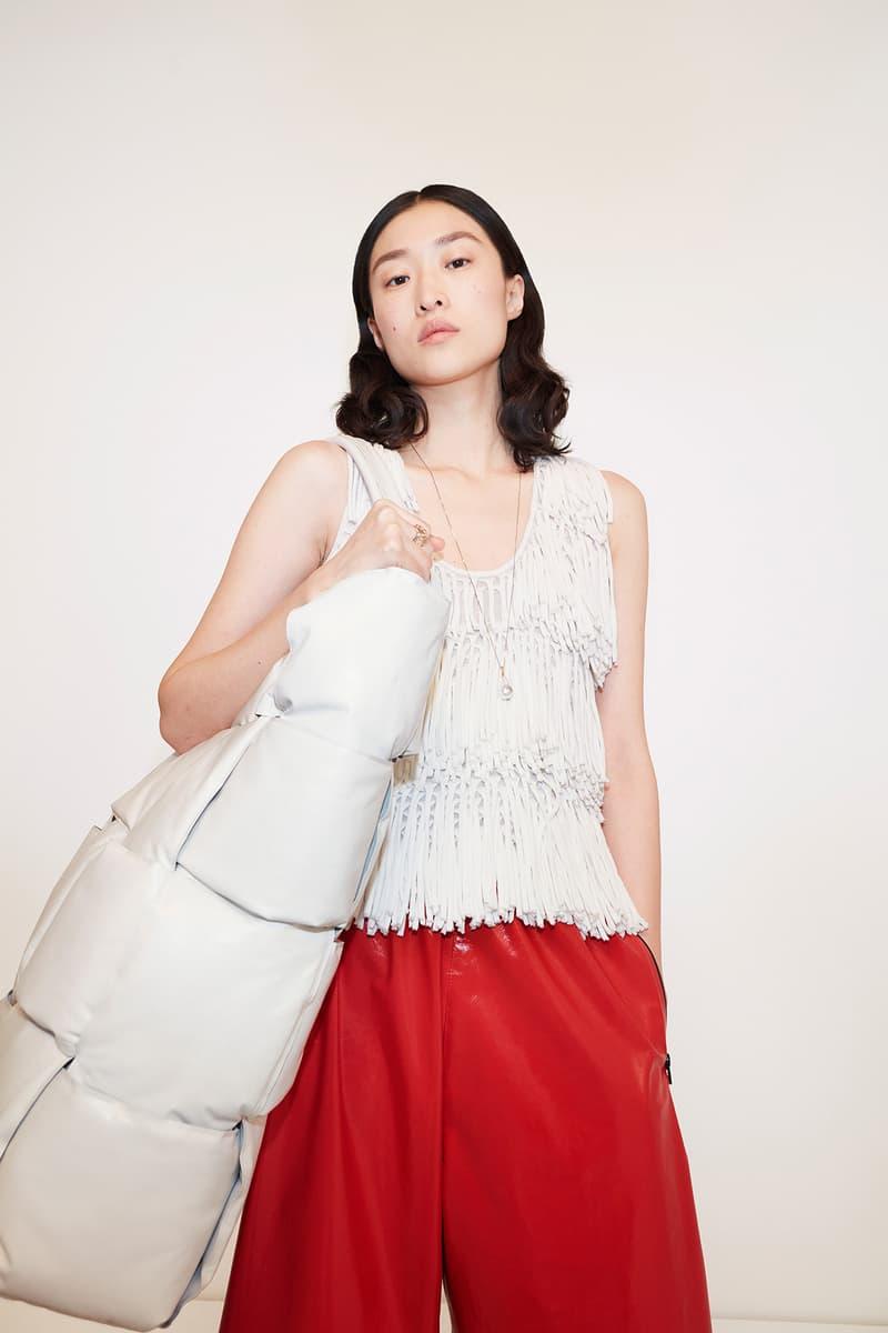 Bottega Veneta Pre-Fall 2020 Collection Lookbook Fringe Top White