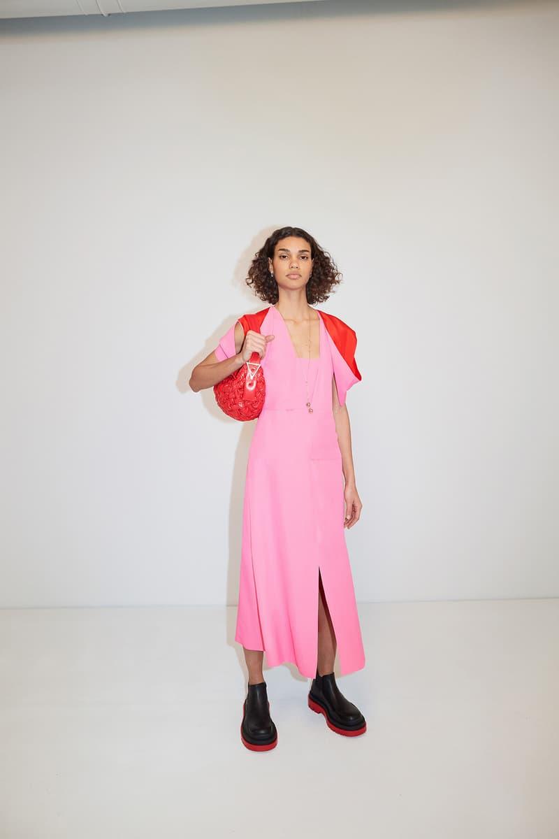 Bottega Veneta Pre-Fall 2020 Collection Lookbook Dress Slit Pink