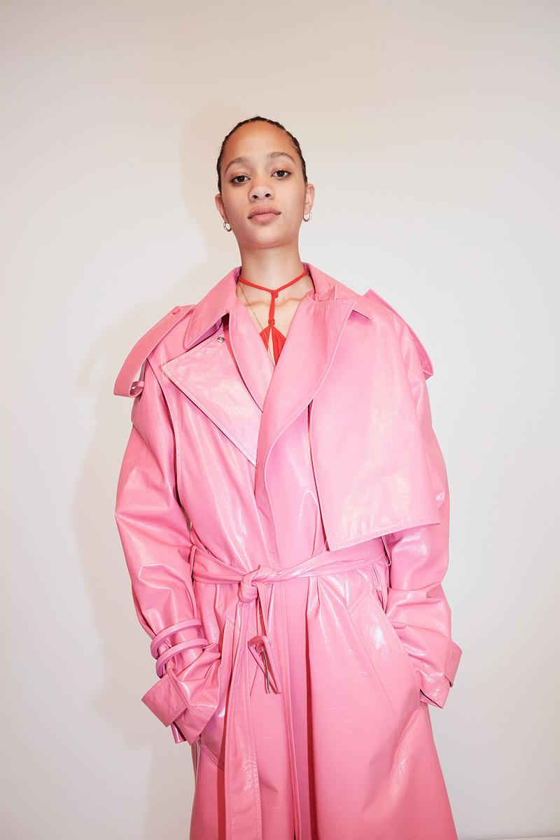 Bottega Veneta Pre-Fall 2020 Collection Lookbook Trench Coat Pink