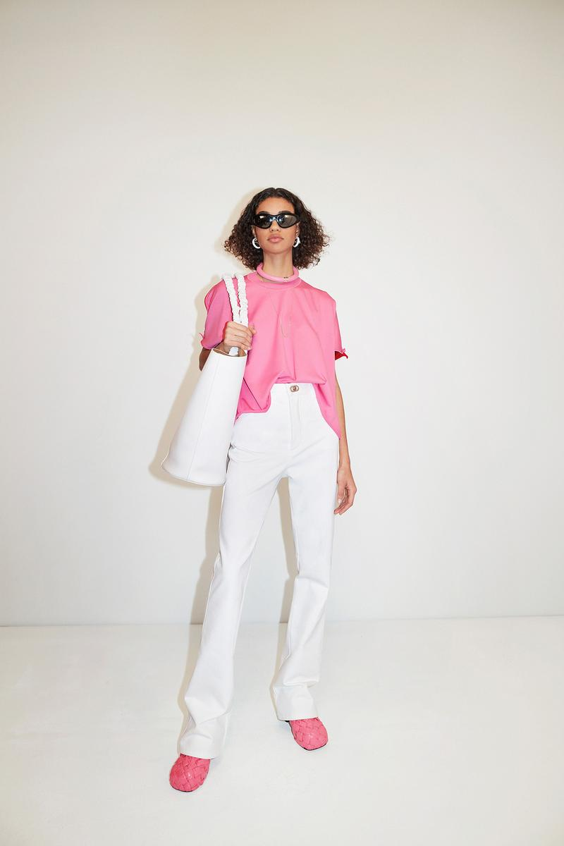 Bottega Veneta Pre-Fall 2020 Collection Lookbook Top Pink Trousers White