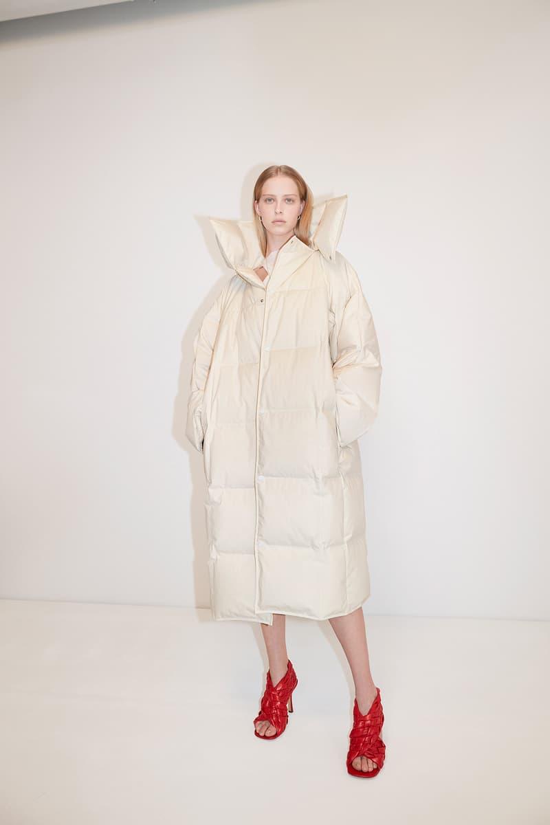 Bottega Veneta Pre-Fall 2020 Collection Lookbook Puffer Coat White