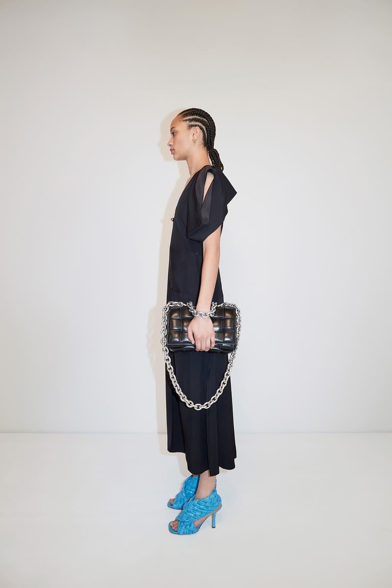 Bottega Veneta Pre-Fall 2020 Collection Lookbook Dress Black Woven Sandals Blue
