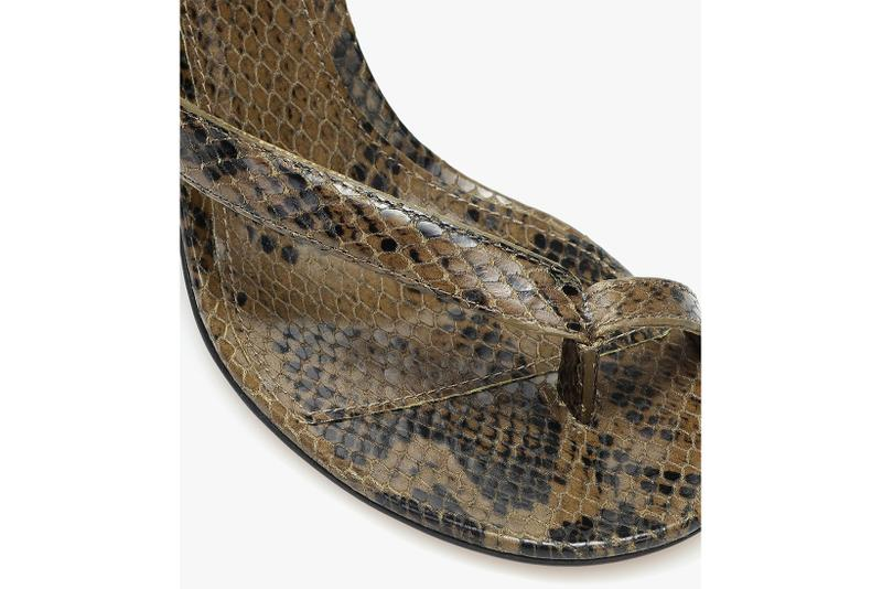 bottega veneta snake effect leather heels pre spring 2020 daniel lee
