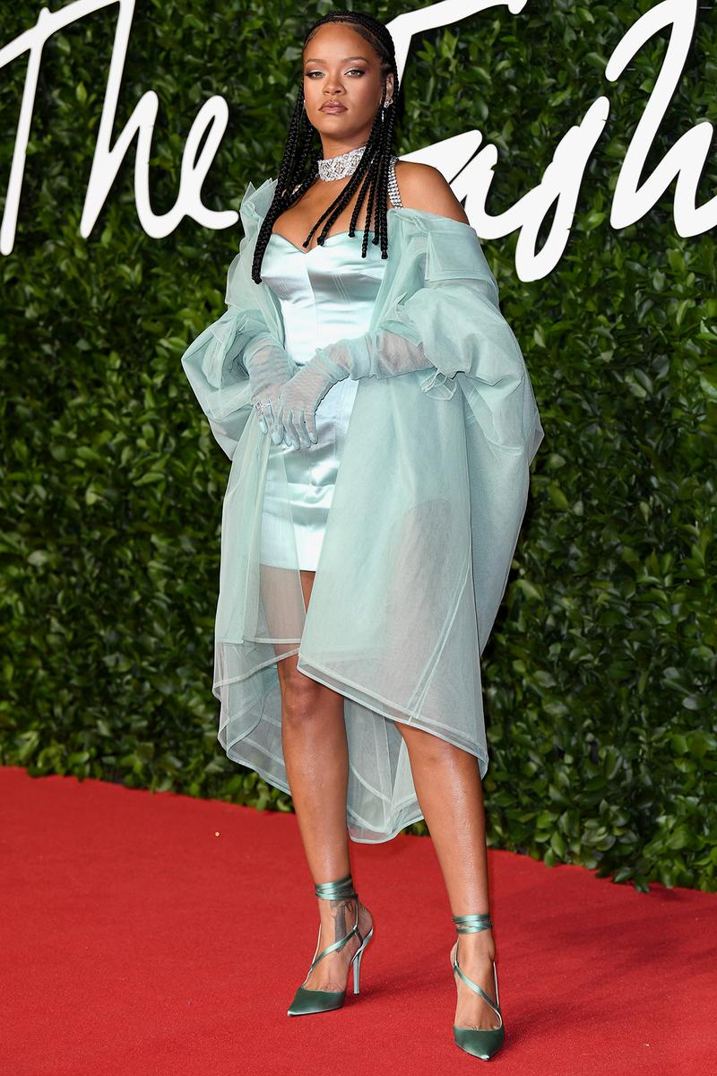 british fashion awards bfas best celebrity red carpet looks rihanna fenty