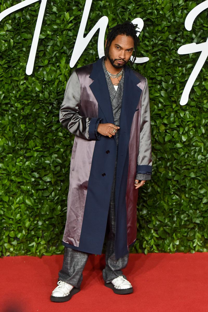 british fashion awards bfas best celebrity red carpet looks miguel