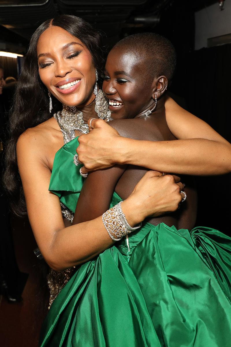british fashion awards winners list adut akech naomi campbell model