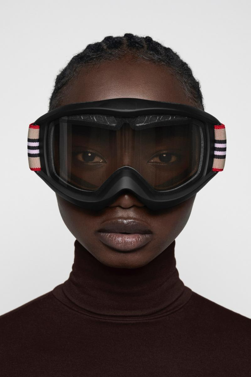 Burberry B Series Ski Goggles Logo Print Release Riccardo Tisci Outerwear Collection Heritage Check