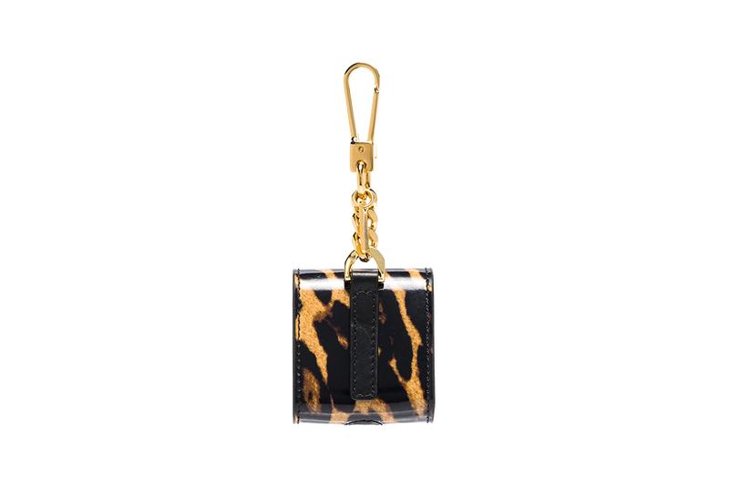 burberry brown leopard print leather apple airpods case accessories brown gold