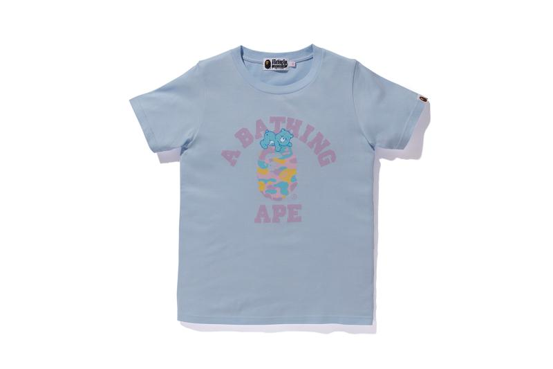 Care Bears x BAPE Collection Logo T-Shirt Blue