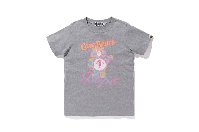 Care Bears x BAPE Collection Logo Bear T-Shirt Grey