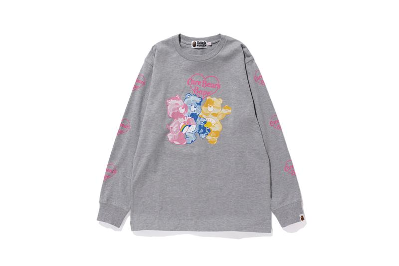 Care Bears x BAPE Collection Long Sleeve T-Shirt Grey