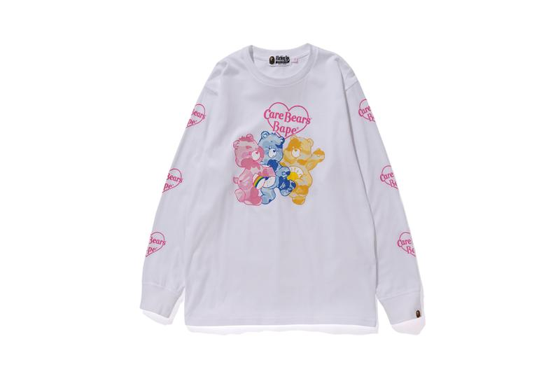 Care Bears x BAPE Collection Long Sleeve T-Shirt White