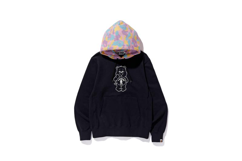 Care Bears x BAPE Collection Hoodie Black Camo
