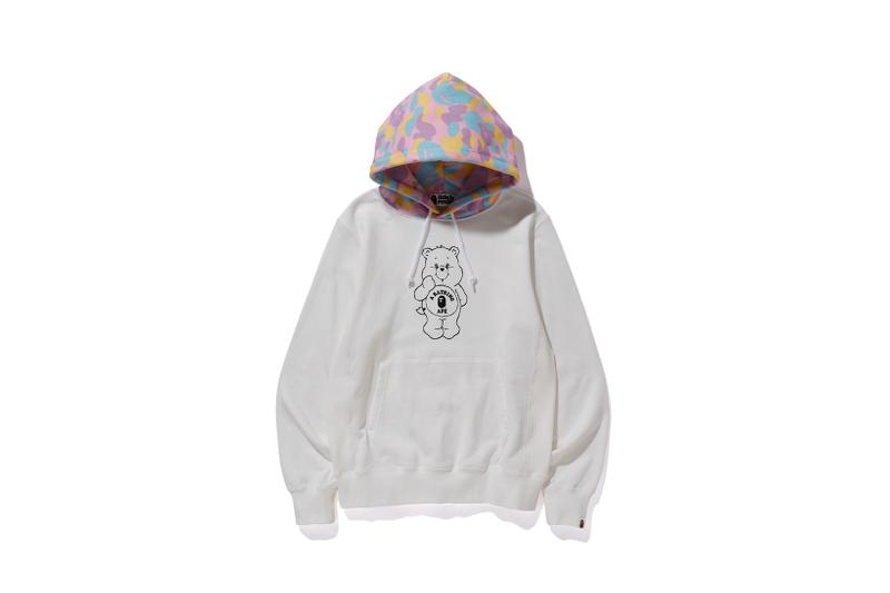 Care Bears x BAPE Collection Hoodie White Camo