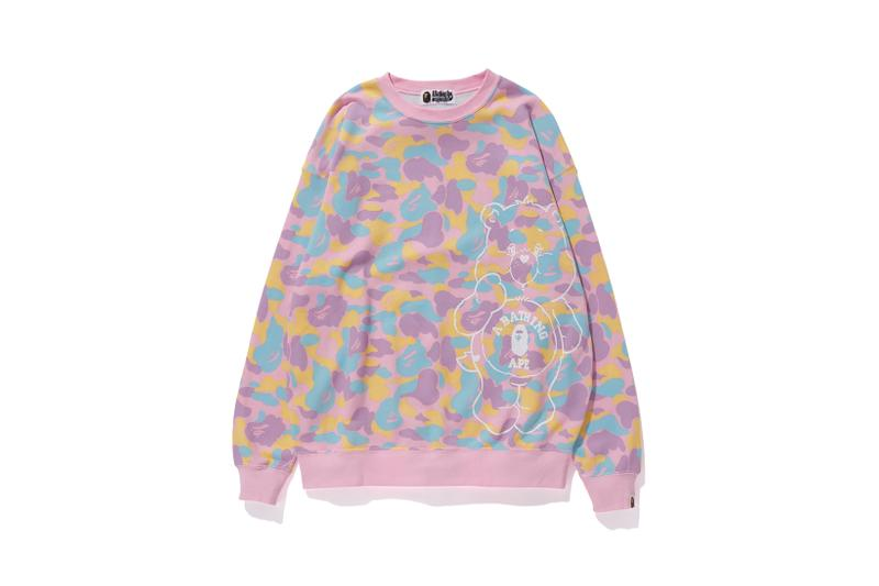 Care Bears x BAPE Collection Crewneck Camo Pink