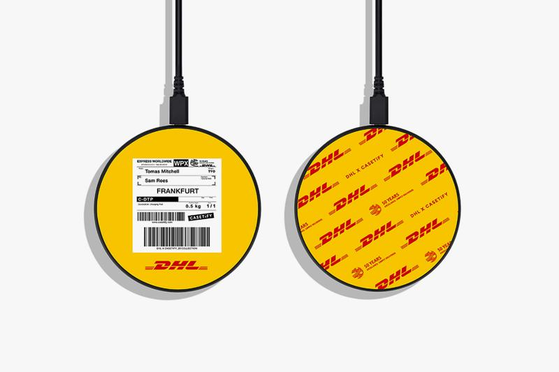 casetify dhl collaboration wireless charger yellow black