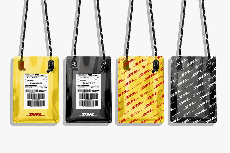 casetify dhl collaboration phone case bag yellow black