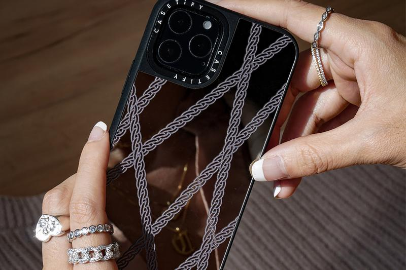 the m jewelers casetify collaboration apple iphone 11 case tech accessories rings necklaces black gold