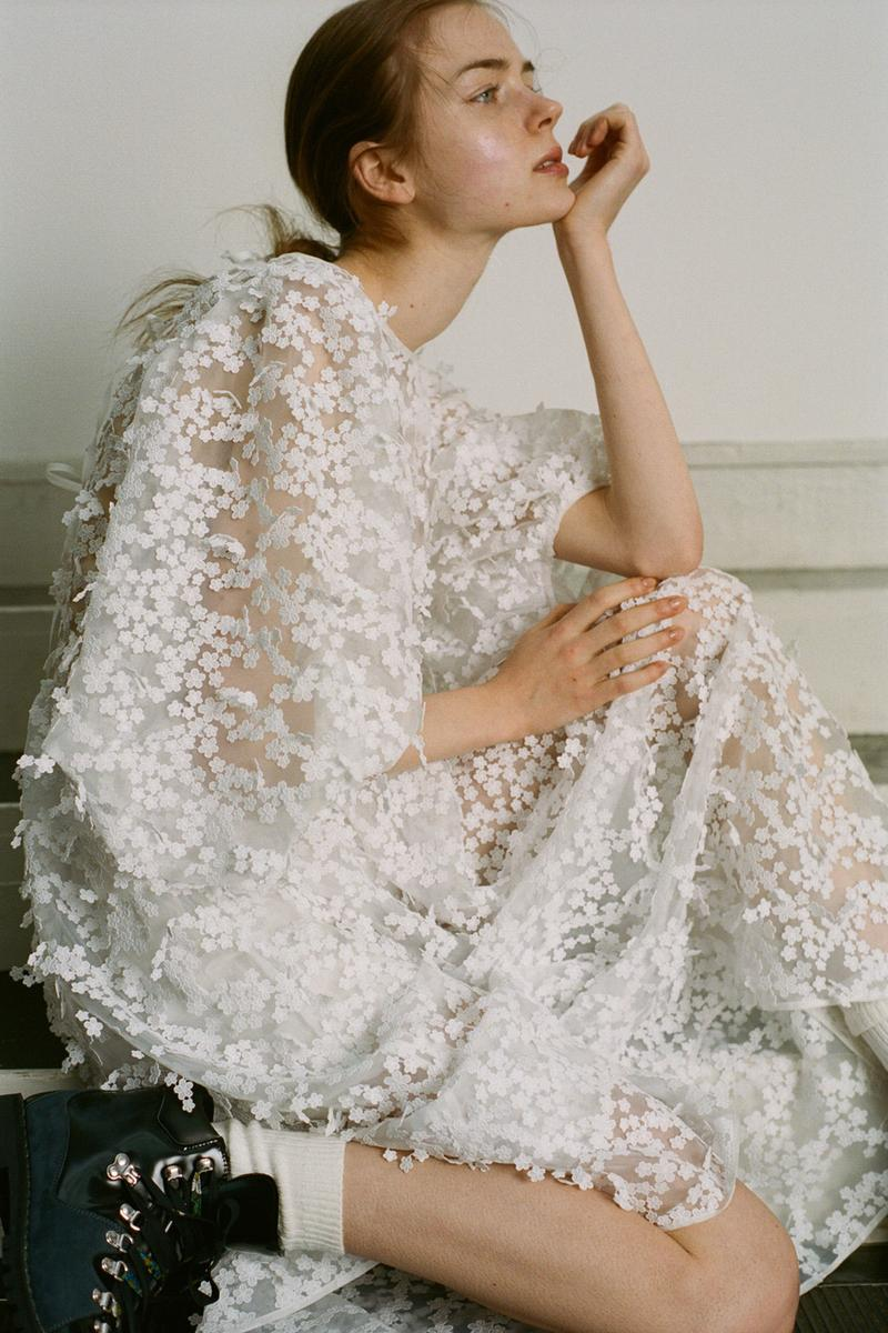 Cecilie Bahnsen Pre-Fall 2020 Collection Lookbook Sheer Gown White