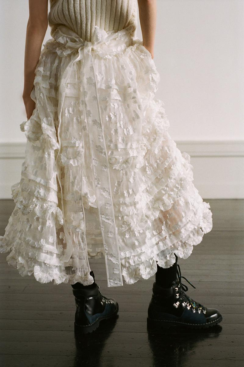 Cecilie Bahnsen Pre-Fall 2020 Collection Lookbook Ruffle Skirt White