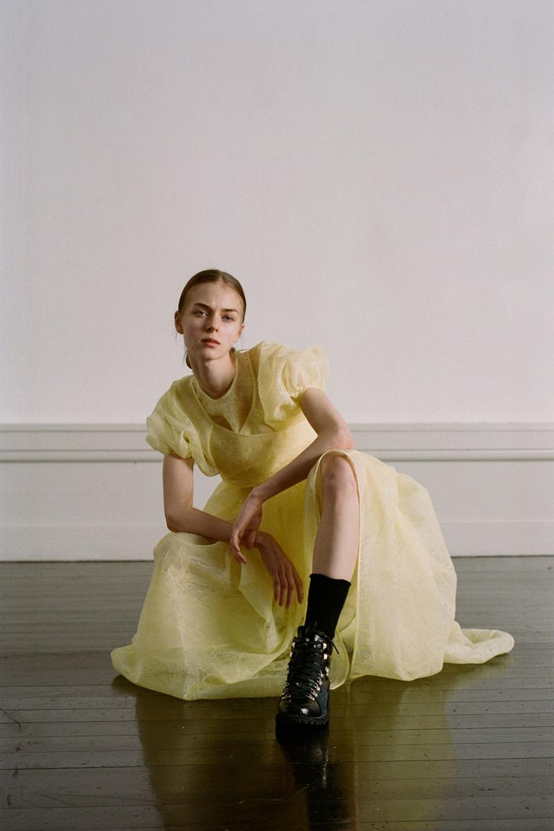 Cecilie Bahnsen Pre-Fall 2020 Collection Lookbook Puff Sleeve Dress Yellow