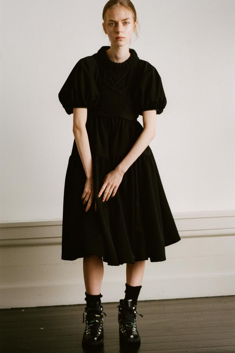 Cecilie Bahnsen Pre-Fall 2020 Collection Lookbook Puff Sleeve Dress Black