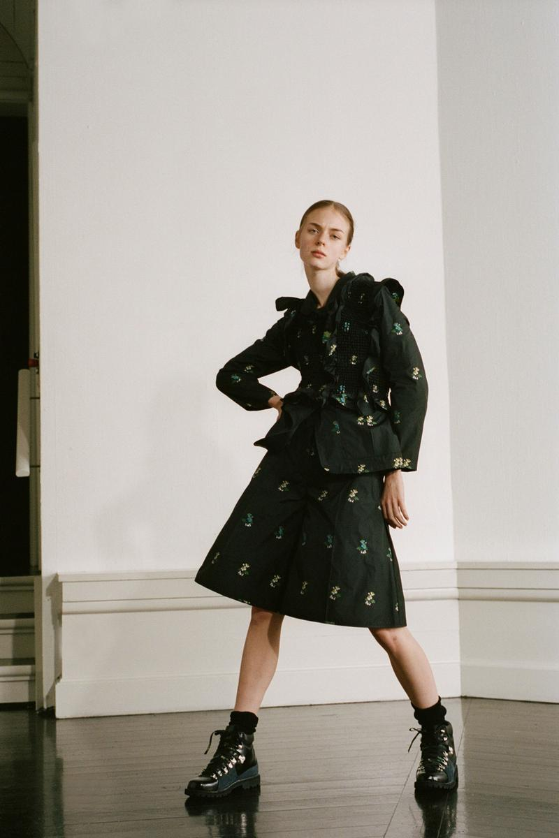 Cecilie Bahnsen Pre-Fall 2020 Collection Lookbook Floral Print Jacket Skirt