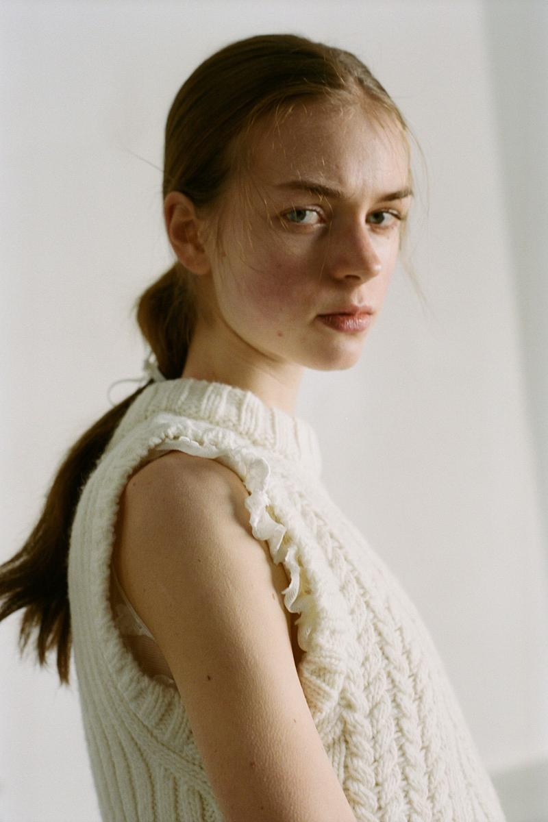 Cecilie Bahnsen Pre-Fall 2020 Collection Lookbook Knit Vest Top White