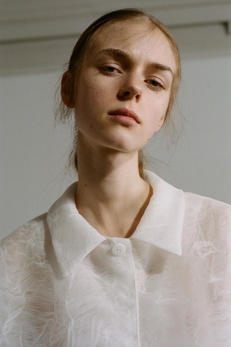 Cecilie Bahnsen Pre-Fall 2020 Collection Lookbook Sheer Coat White