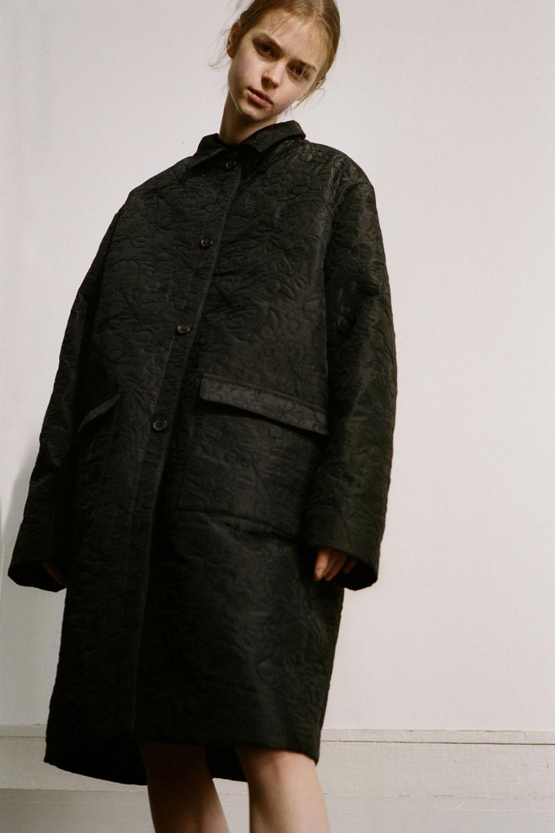 Cecilie Bahnsen Pre-Fall 2020 Collection Lookbook Coat Black