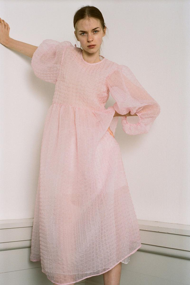 Cecilie Bahnsen Pre-Fall 2020 Collection Lookbook Puff Sleeve Dress Pink
